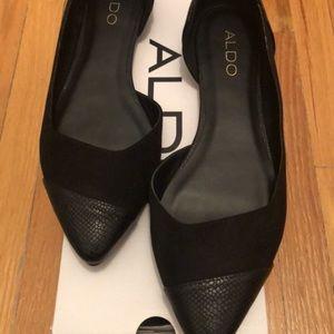 Aldo flat black shoes
